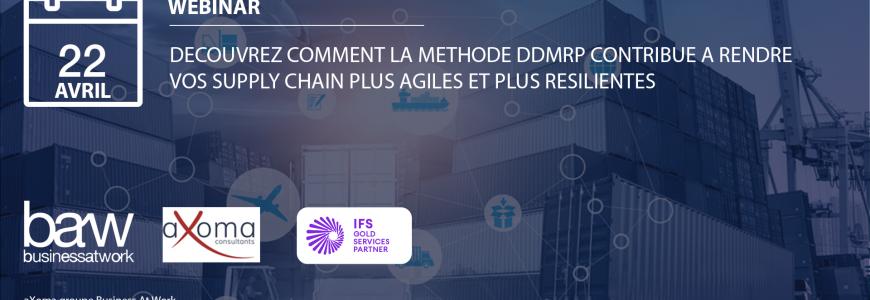 Webinar : Découvrez comment la méthode DDMRP contribue à rendre vos Supply Chain plus agiles et plus résilientes