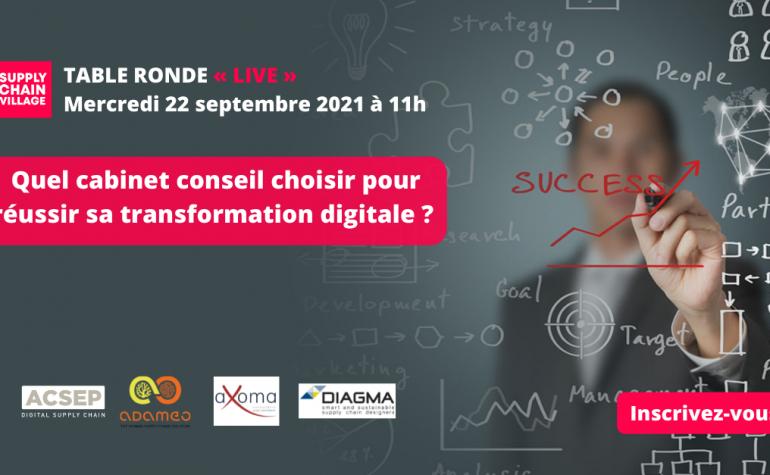 aXoam Consultants participe à la table ronde organisée par Supply Chain Village le 22 septembre de 11h00 à 12h00